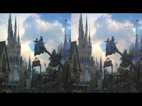 Disney World Fantasyland in 3D (yt3d:enable=true)