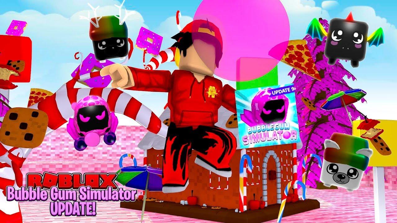ROBLOX - BUBBLE GUM SIM UPDATE, CANDY LAND, SHINY PETS & FREE DOMINUS PET!