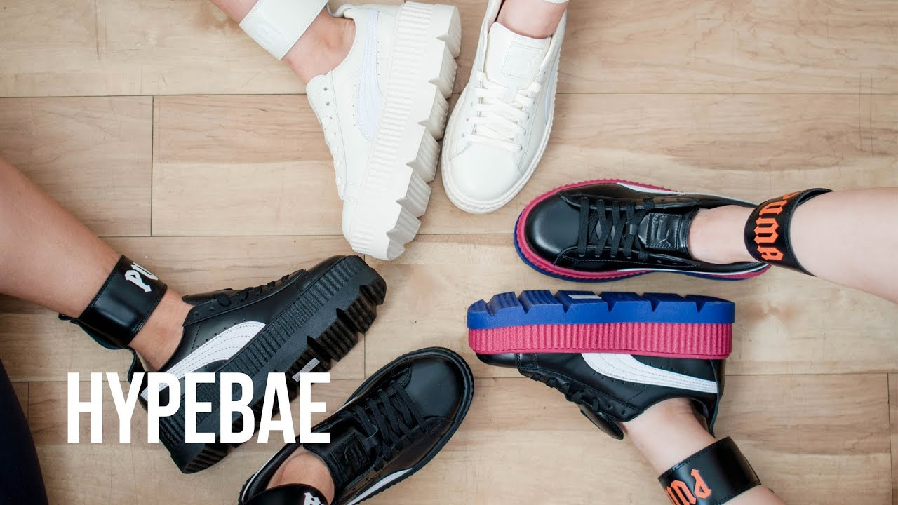 405197362 Rihanna's Fenty PUMA Ankle Strap Creeper Unboxing - YouTube
