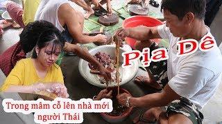 Món Pịa Dê huyền thoại ở nhà em Chân | Lễ lên nhà mới nhà sàn bê tông người Thái ( Trắng )