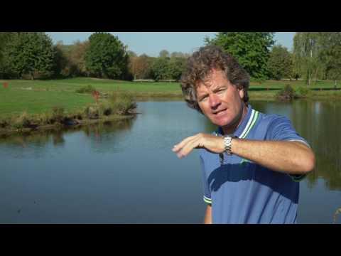 Golfball im Wasser