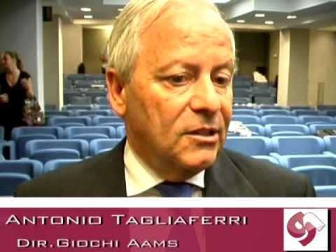 Antonio Tagliaferri, Direttore giochi Aams