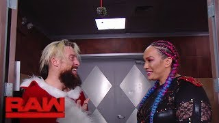Nia Jax attempts to lift Enzo Amore's holiday spirits: Raw, Dec. 25, 2017