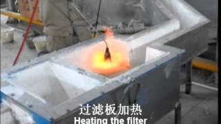 aluminum cast house in China(round aluminum melting furnace)