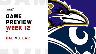 Baltimore Ravens vs Los Angeles Rams Week 12 NFL Game Preview