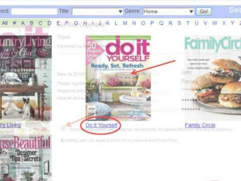 Zinio - Checking Out and Reading Free Digital Magazines Through Your Library