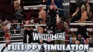 WWE 2K16 SIMULATION: Wrestlemania 31 Highlights