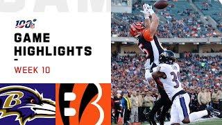 Ravens vs. Bengals Week 10 Highlights | NFL 2019