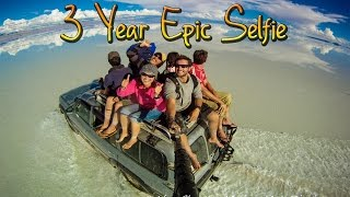 3 Year Epic Selfie - Around the World in 360? Degrees..