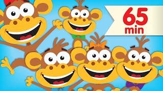 Five Little Monkeys | + More Super Simple Songs & Nursery Rhymes
