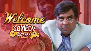 Best of Paresh Rawal  Comedy Scenes - Welcome -  Akshay Kumar - Paresh Rawal - Nanapatekar