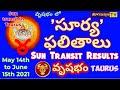 వృషభరాశి| బంధు-మిత్రుల కు దూరం కాకండి| SUN TRANSIT RESULTS | వృషభ' రవి ' ఫలితాలు | YOGAMANJARI TV ||