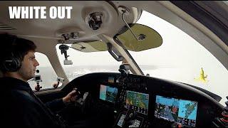 Landing in a Snowstorm! (Full Flight)