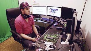 Setup gaming de jeune joueur et youtubeur sound cloud for Bureau youtubeur