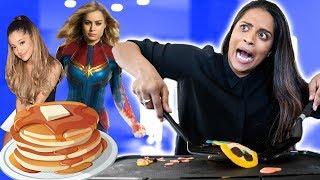 Pancake Art Challenge - Ariana Grande, Captain Marvel & Fav Emojis