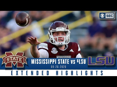 Mississippi State Bulldogs vs #6 LSU Tigers  | NCAA Football Extended Highlights | CBS Sports HQ