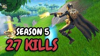 27 KILLS in Season 5! | Solo vs Squad