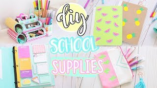 7 DIY Easy School Supplies!! 2018 Organization & More!