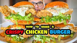 How to make a CRISPY CHICKEN BURGER