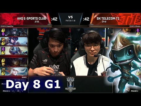 ahq e-Sports vs SK Telecom T1 Day 7 Main Group Stage S7 LoL Worlds