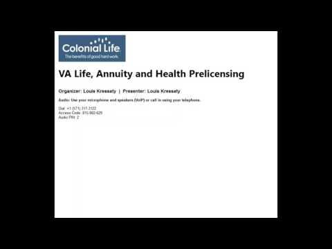 2017 04 01 08 16 VA Life, Annuity and Health Prelicensing Saturday