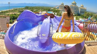 Delphin BE Grand Resort in Antalya Türkiye (Aquapark + Restaurant & Hotel Tour)
