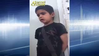 طفل يحمل فكر تنظيم داعش ويبكي على مقتل ابو بكر البغدادي شاهدوا ...