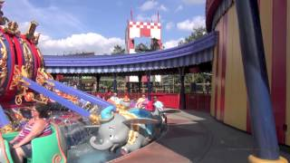 Dumbo The Flying Elephant Complete Ride Experience Full POV Ride and Interactive Queue Magic Kingdom