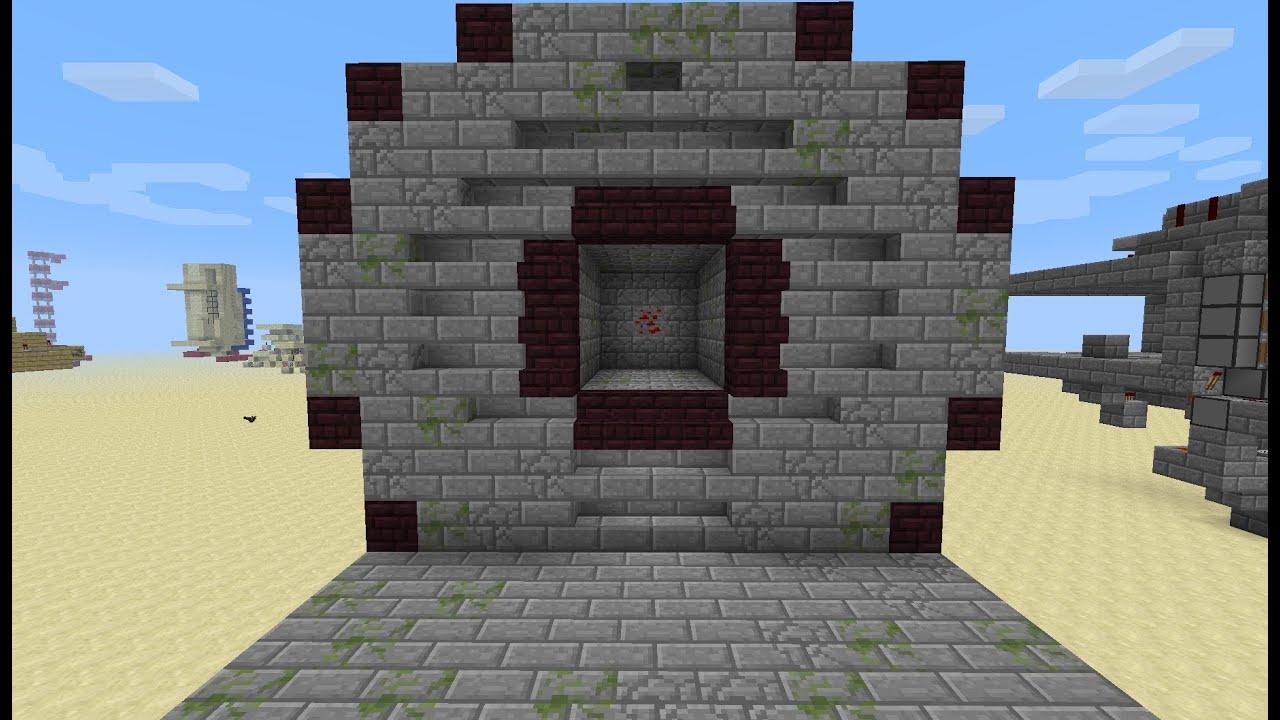 Fallout Vault Door Minecraft 1 5 1 Tutorial Youtube