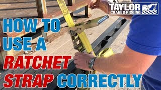 How to Use a Ratchet Strap to Secure a Load on a Trailer