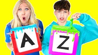 How to Make Slime in ALPHABETICAL ORDER! - Challenge