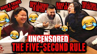 PLAYING THE 5 SECOND RULE! *HILARIOUS WE COULDN'T STOP LAUGHING* GAME NIGHT! (ALMOST PEED MY PANTS)