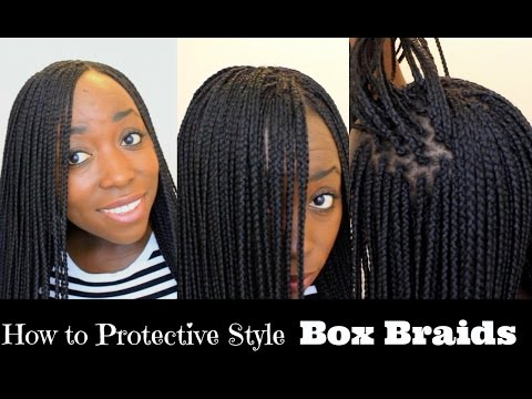 Make Your Own Crochet Box Braids : How to Box Braid Your Own Hair feather Tips and Seal Box Braids Ends ...