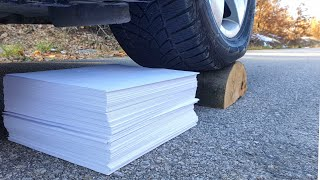 Crushing Crunchy & Soft Things by Car! EXPERIMENT CAR vs 1000 Sheets of Paper