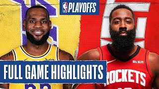 Houston Rockets vs Los Angeles Lakers | September 8, 2020