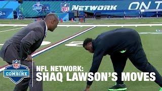 Shaq Lawson (Clemson, DE) Shows off His Favorite Pass Rush Moves | 2016 NFL Combine Primetime