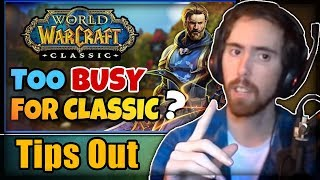 """Asmongold Reacts to """"Can Casual Players still enjoy Classic WoW?"""" by Tips Out"""