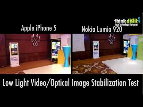 Nokia Lumia 920 vs iPhone 5   Low Light VideoOptical Image Stabilization Test