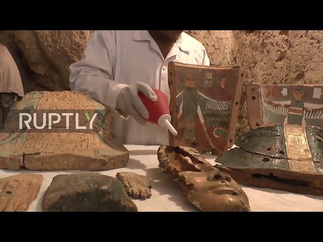 埃及探索3500年歷史古墓 發現疑似高官木乃伊