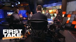 First Take desk gets heated as Damien Woody defends calling Eli Manning 'washed' | First Take | ESPN