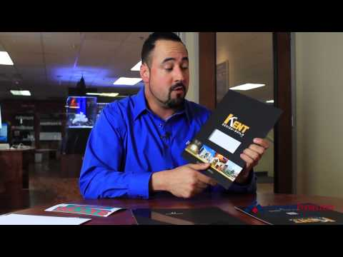 Soft touch pocket folder w spot UV & embossing | Cool Custom Printing