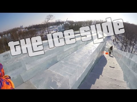 The Ice Slide! Harbin International Ice and Snow Sculpture Festival 2016