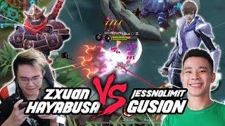 Zxuan Hayabusa VS JessNoLimit Top Global Gusion!