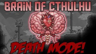 How to Beat The Brain of Cthulhu in Death Mode! ||Calamity Mod Boss Guide||