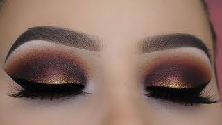 Golden Smokey Eyes Tutorial - Jeffree Star Blood Sugar Palette