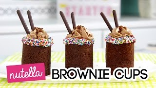 How to Make Nutella Brownie Cups!
