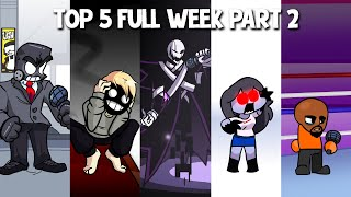 Top 5 Mods Full Week! in Anders, Brightside, X Event, Sky & Matt - Friday Night Funkin #2