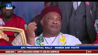 Imo APC Rally: Okorocha Endorses AA's Uche Nwosu, Discards Hope Uzodinma