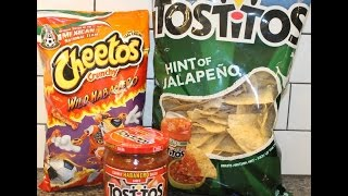 Cheetos Wild Habanero, Tostitos Habanero Salsa & Tostitos Hint of Jalapeno Tortilla Chips Review