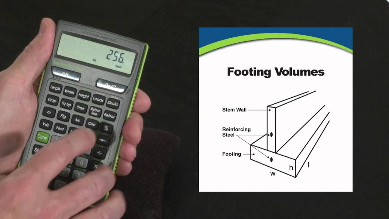 Concretecalc Pro Footing Volume Calculations How To Youtube